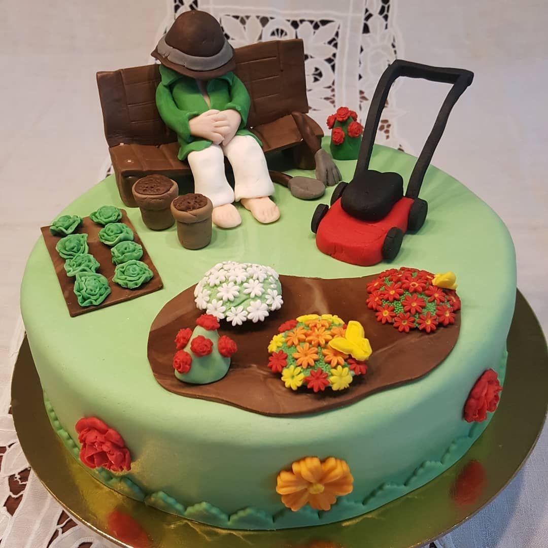 Chris Pieles Christina S Colorful Cake World Gartentorte Christinasbuntetorten Cake Chris Christinas In 2020 Gartenkuchen Torten Fondant Torte Geburtstag