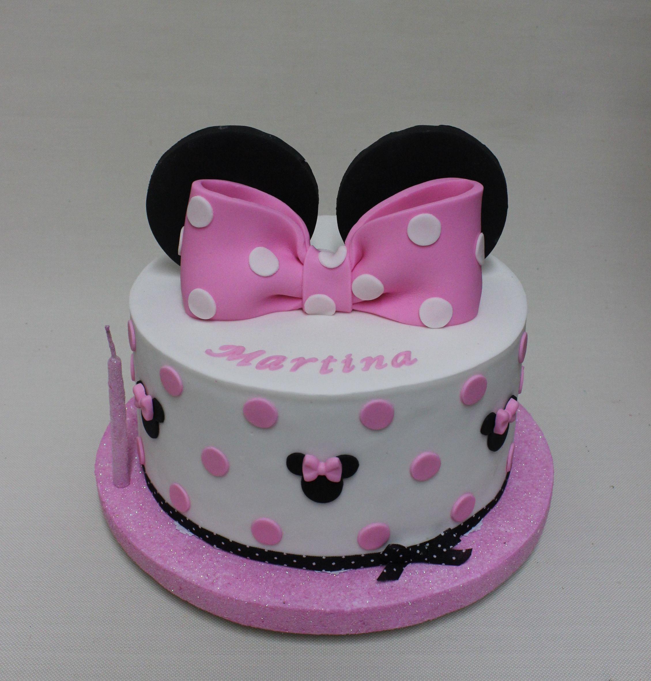 Minnie Mouse Cake Violeta Glace | Minnie cake, Minnie mouse birthday cakes,  Minnie mouse cake