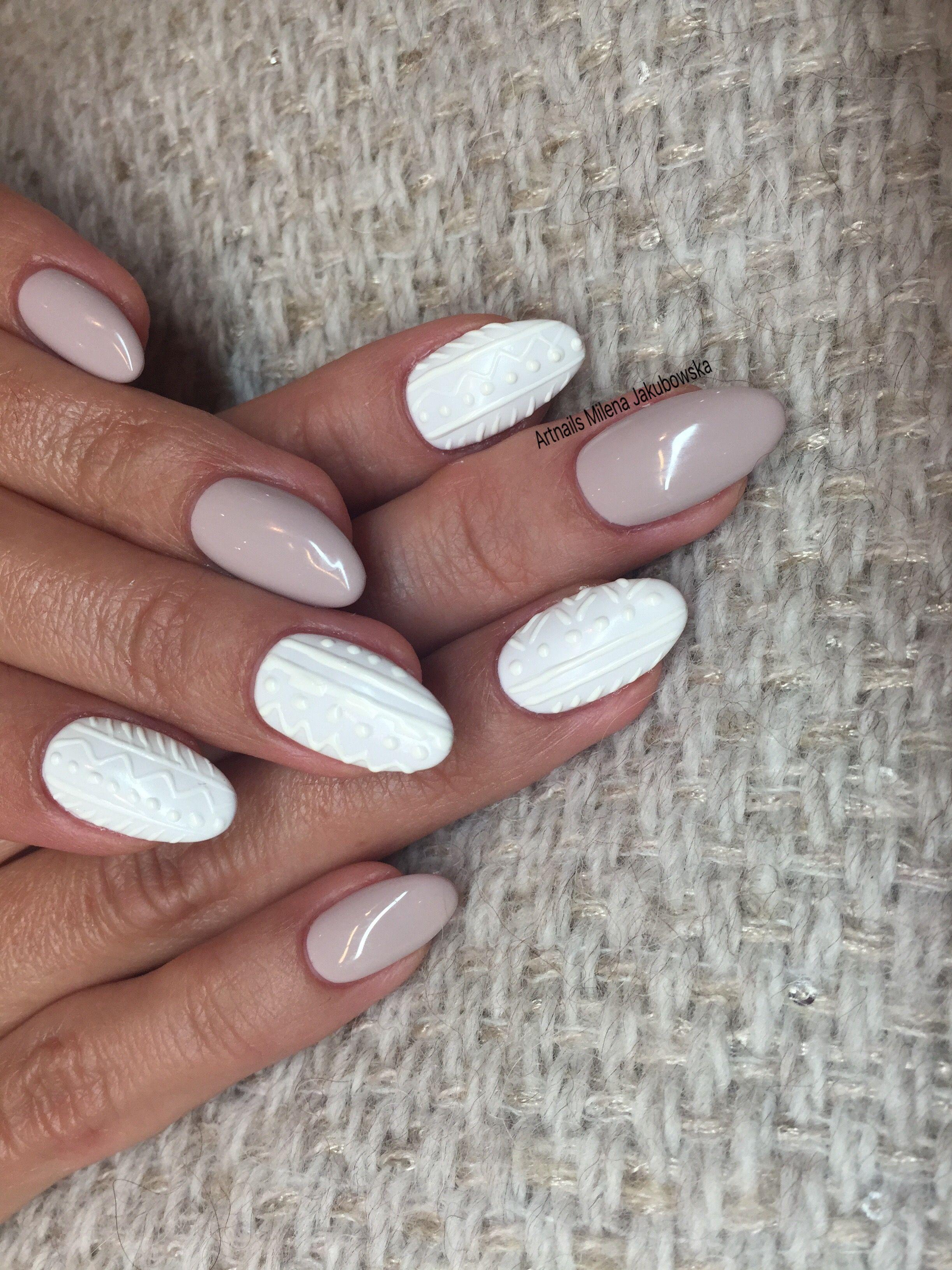 Winter Milena Jakubowska Nails Pinterest Nagel Pullover Nagel