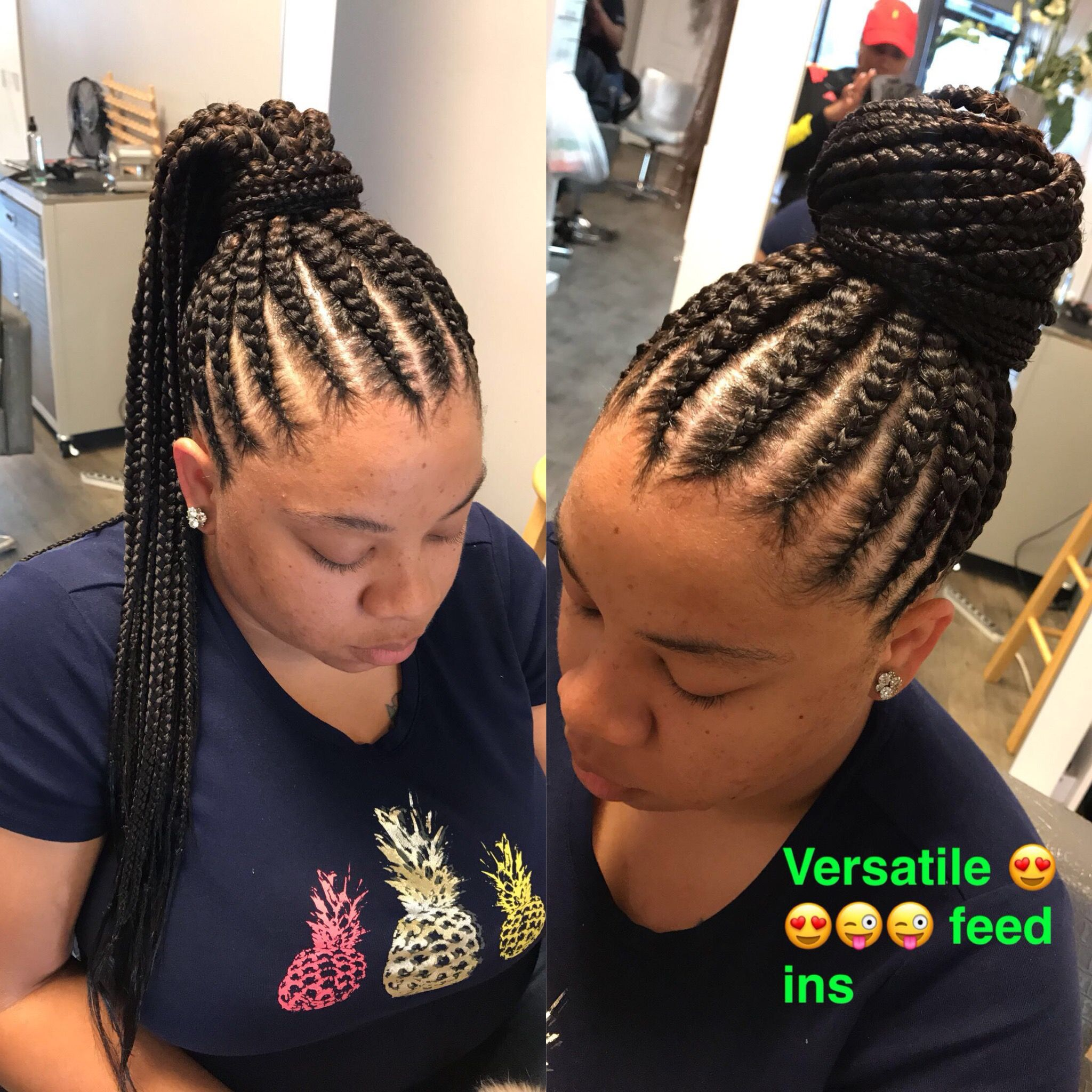 Pin By Ky Royal On K Braided Bun Hairstyles Cornrow Ponytail Cornrow Updo Hairstyles