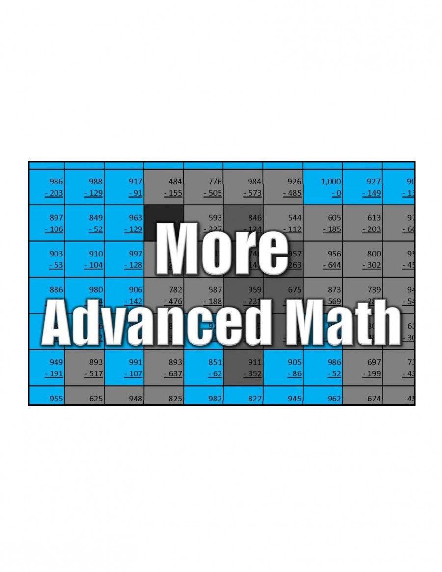 Get More Advanced Math | third grade | Pinterest | Maths, Free math ...