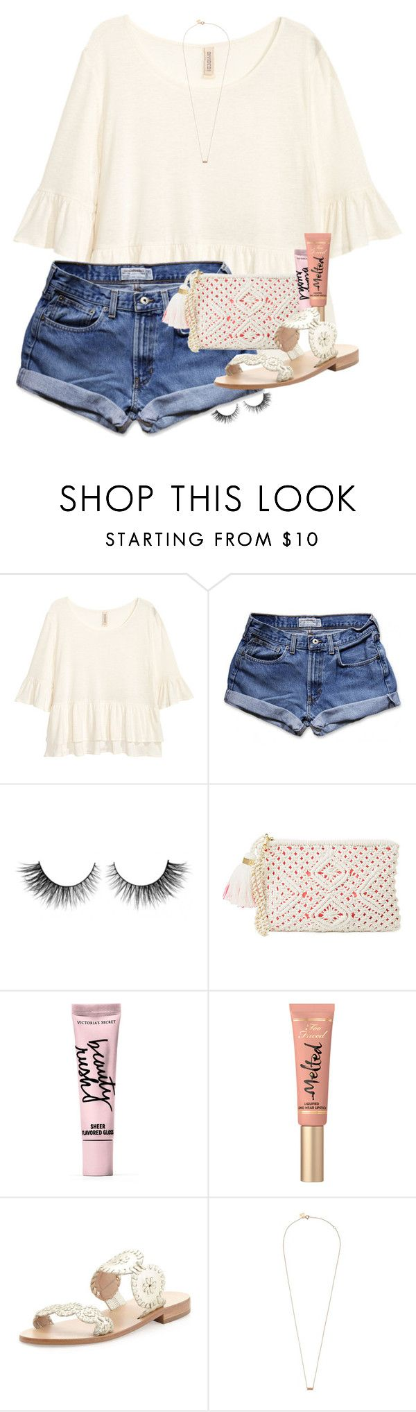 """""""No one has it all figured out"""" by erinlmarkel ❤ liked on Polyvore featuring Abercrombie & Fitch, Rimini, Lilly Pulitzer, Beauty Rush, Too Faced Cosmetics, Jack Rogers and Ginette NY"""