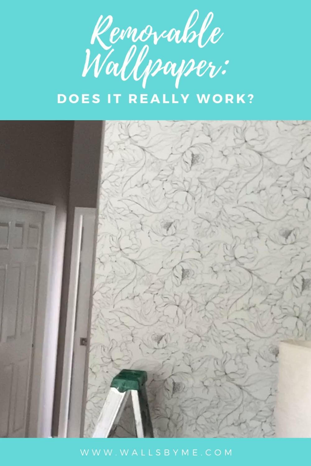Peel And Stick Wallpaper Does It Really Work Video Video In 2021 Peel And Stick Wallpaper Accent Wall Professional Decor