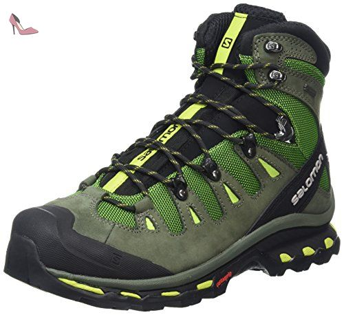 Salomon Green Chaussures Chaussures Homme Vert De Randonnee