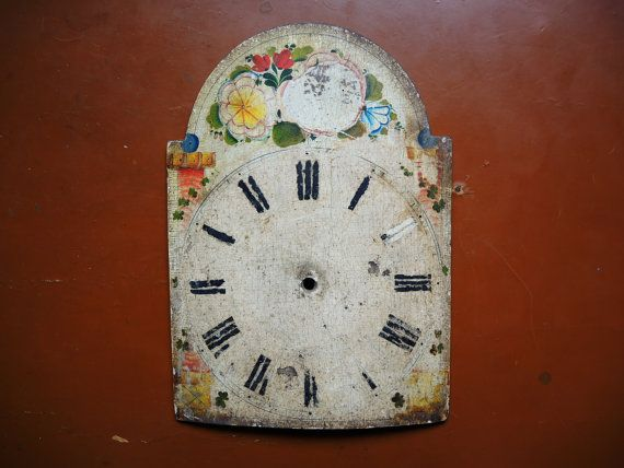 Antique Wag On Wall Clock Parts Wooden Case Parts Featured