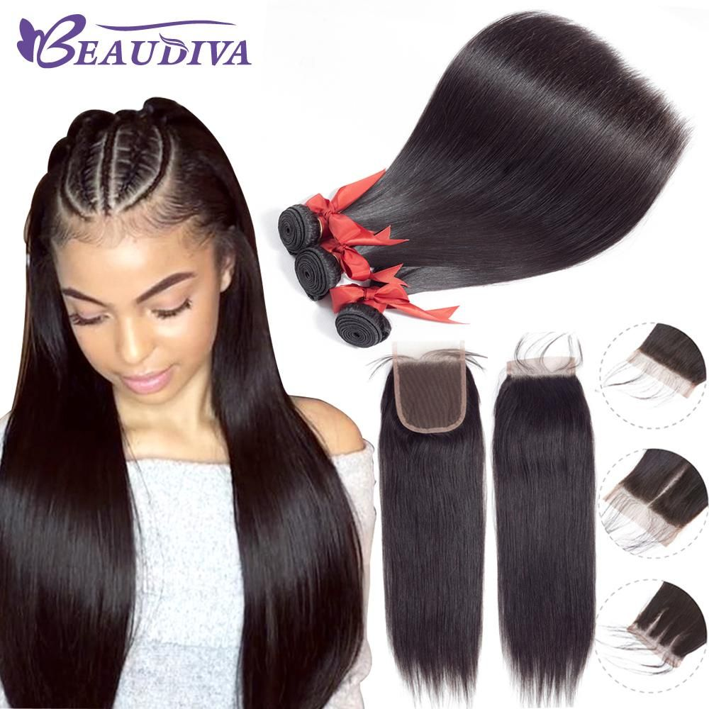 Beaudiva Brazilian Hair Weave Straight Human Hair 2 3 Bundles With