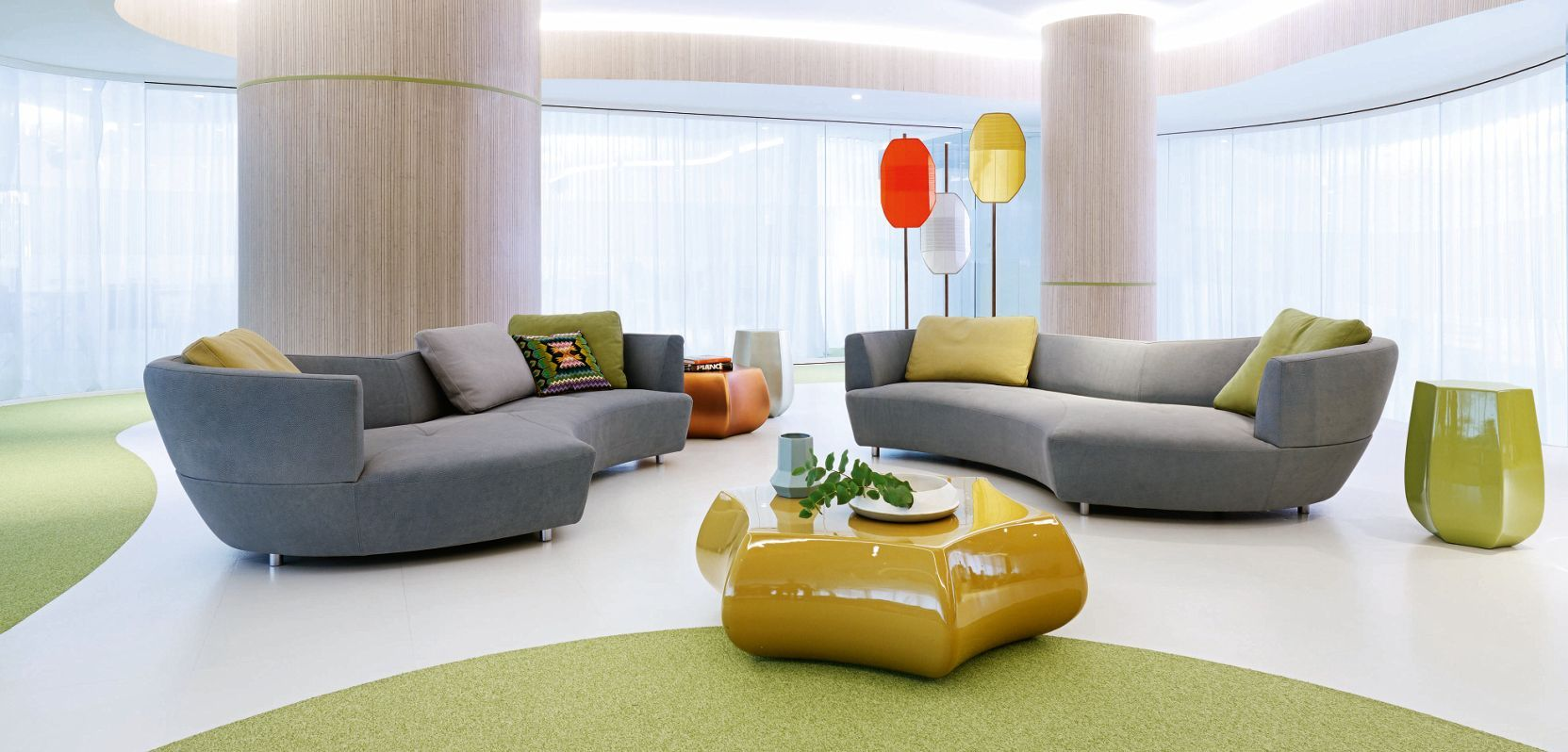 Roche Bobois Digital Large Round 3 Seat Sofa Design G Assmann A Kleene Rochebobois Canape Decoration