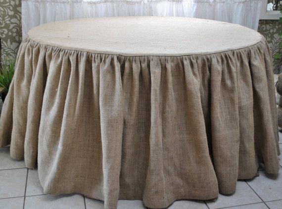 Nice Burlap+Round+Tablecloth+by+PaulaAndErika+on+Etsy,+$100.00