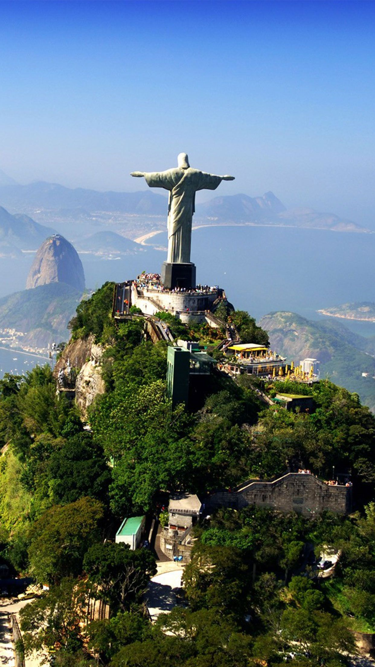 Rio De Janeiro Brazil Statue Wallpaper Rio Brazil Iphone Android