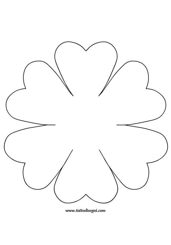 Sagoma Fiore Tutto Disegni Modello Di Fiore Di Carta Modello Di Fiore Fiori Di Feltro