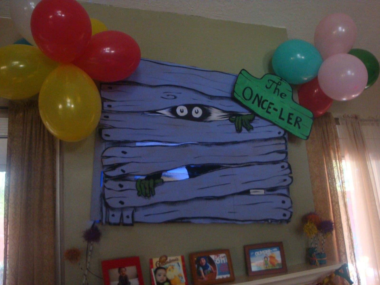 1 DOUBLE Dr Sues Truffula Tree Party decor gift prop Birthday Lorax Halloween