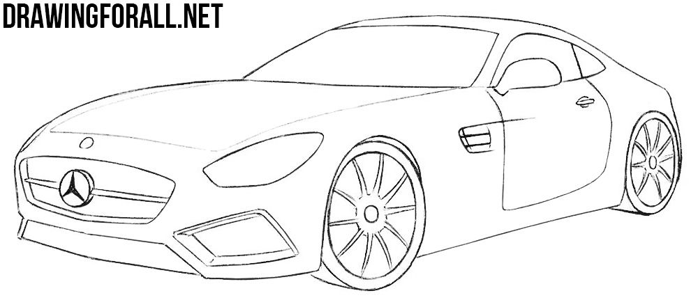 How To Draw A Mercedes Amg Gt Mercedes Amg Mercedes Car Drawings