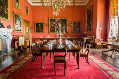 Dining room at Raby Castle