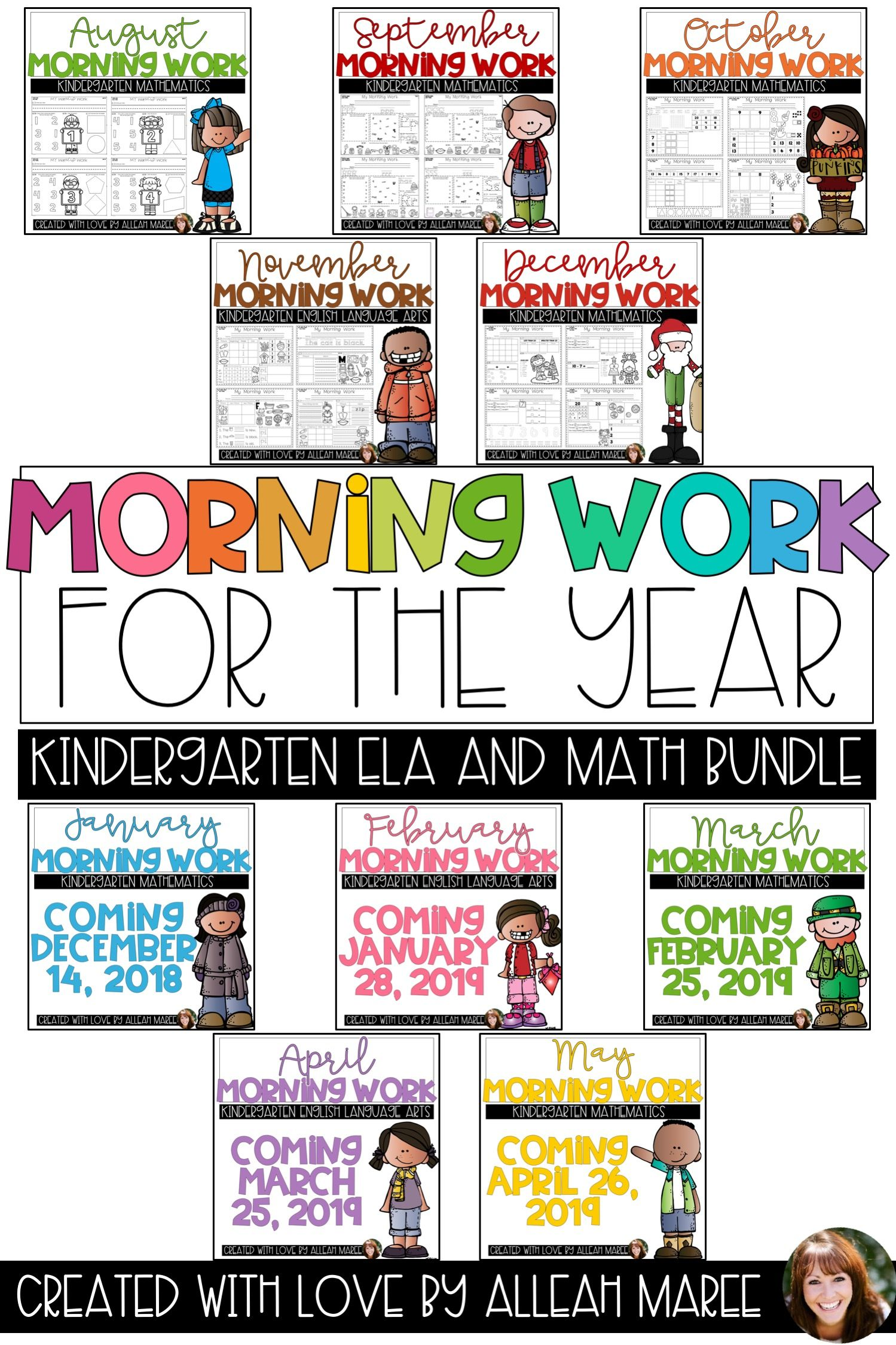 Kindergarten No Prep Morning Work Math And Literacy