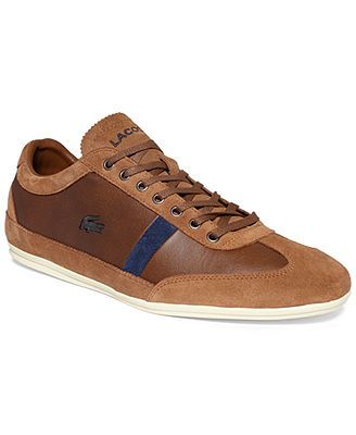 5eb40d42b00711 Lacoste Misano 22 SRM Leather Sneakers Lacoste Shoes