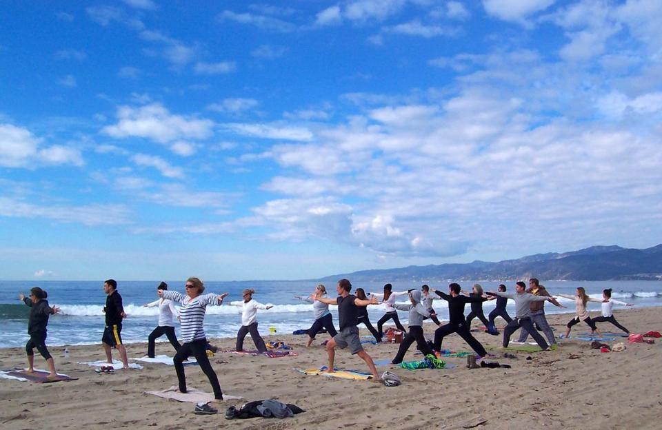 Sunday Morning Beach Yoga In Santa Monica