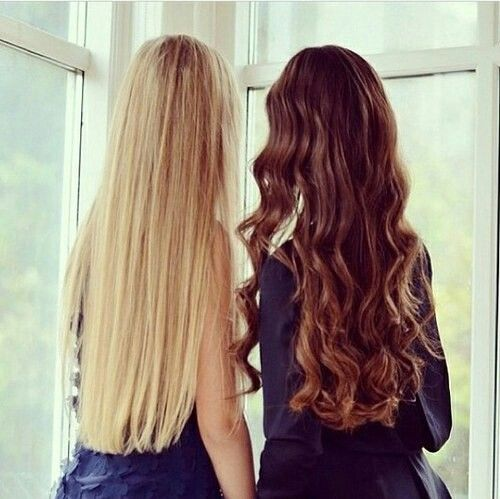 Every Girl With Straight Hair Needs A Curly Headed Best