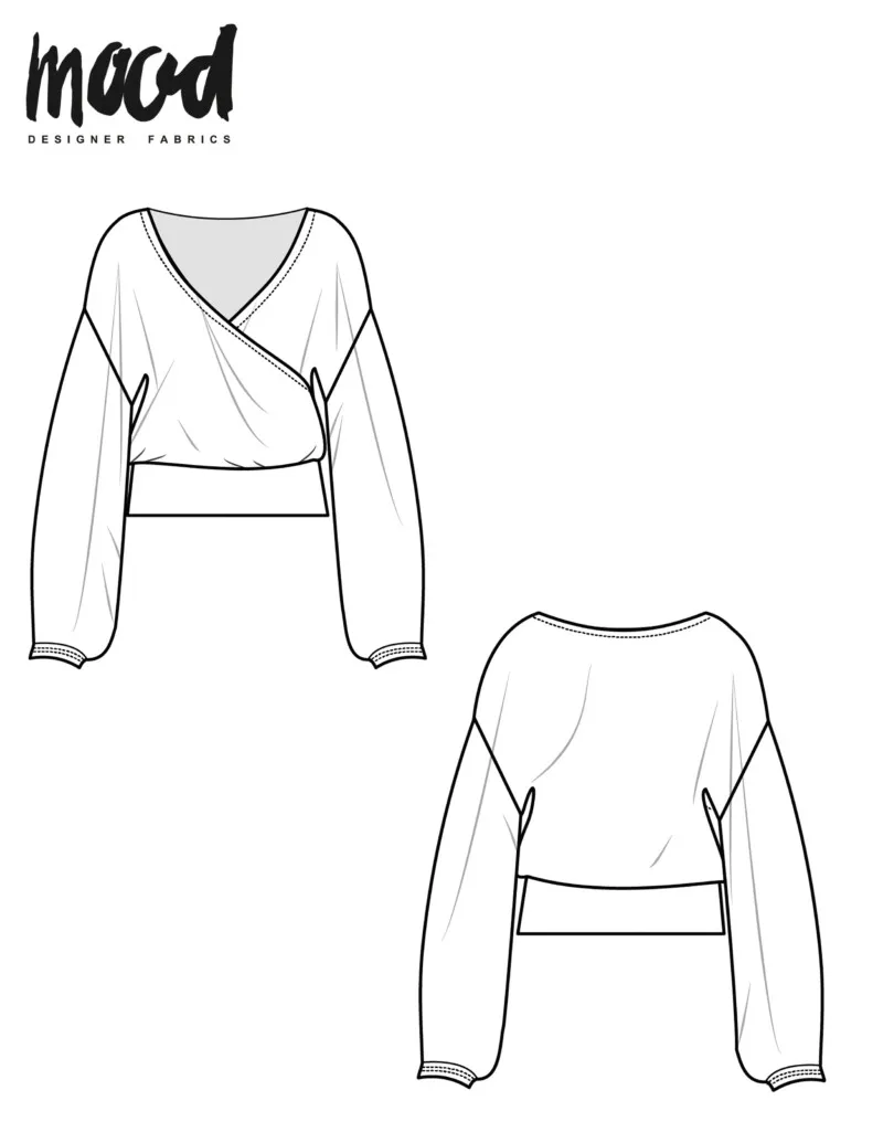 The Peony Blouse - Free Sewing Pattern - Mood Sewciety