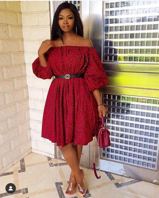 2019 Lovely Ankara Short Gown Styles for African Ladies #ankaramode