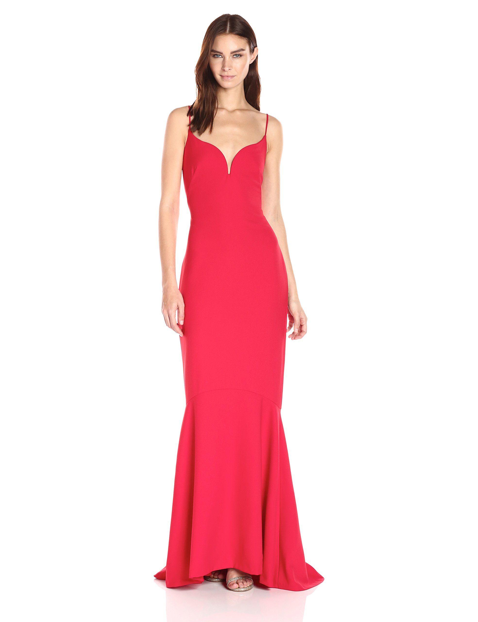 Nicole Miller Women\'s Techy Crepe V Bar Gown | Womens | Pinterest ...