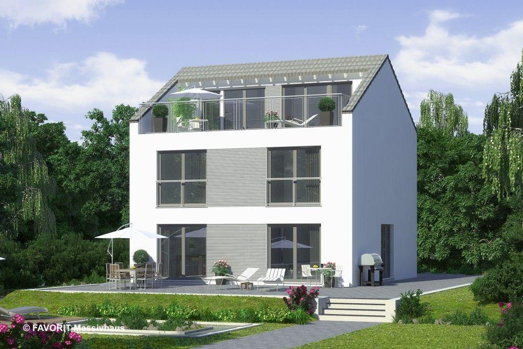 Haus bauen modern satteldach  Bildergebnis für haus dachterrasse satteldach | Hausbau ...
