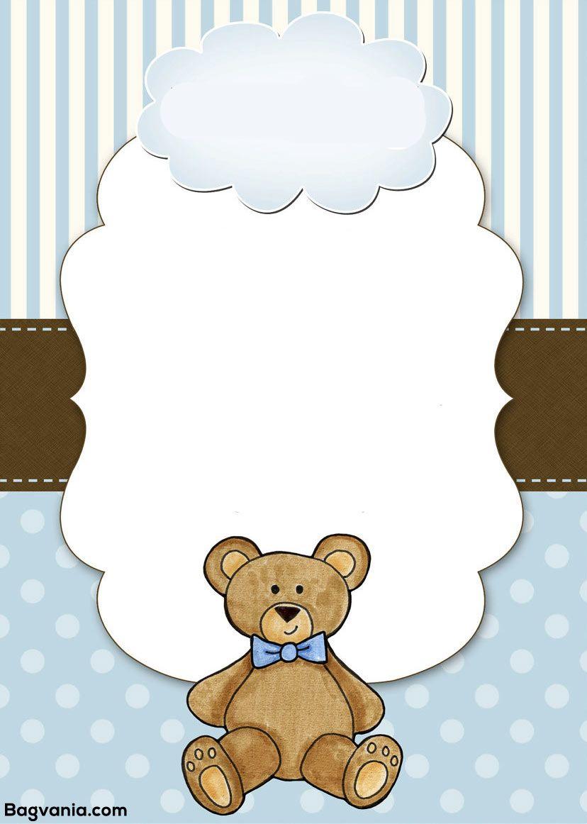 Free Teddy Bear Birthday Invitation Templates