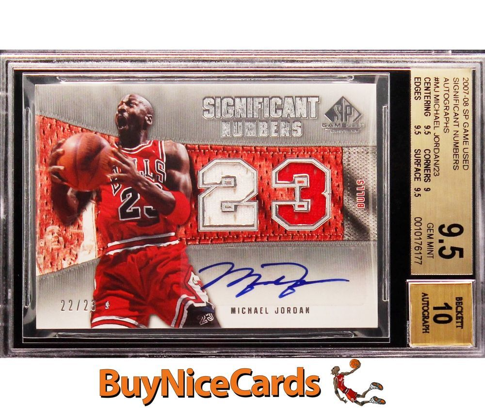 0708 Michael Jordan SP Game Used Significant Number Patch