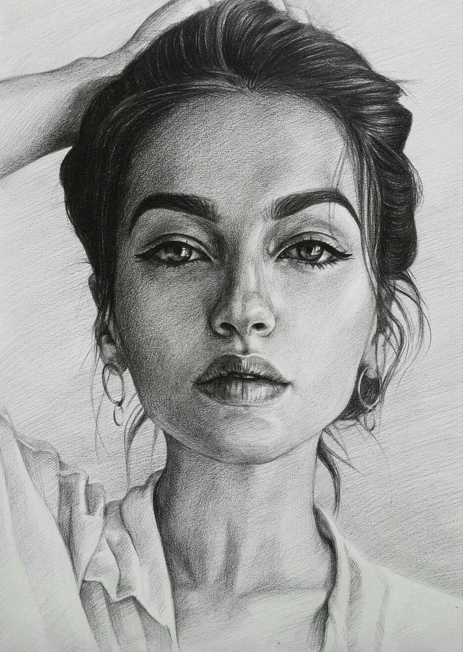 Картинки рисовать портрет девушки