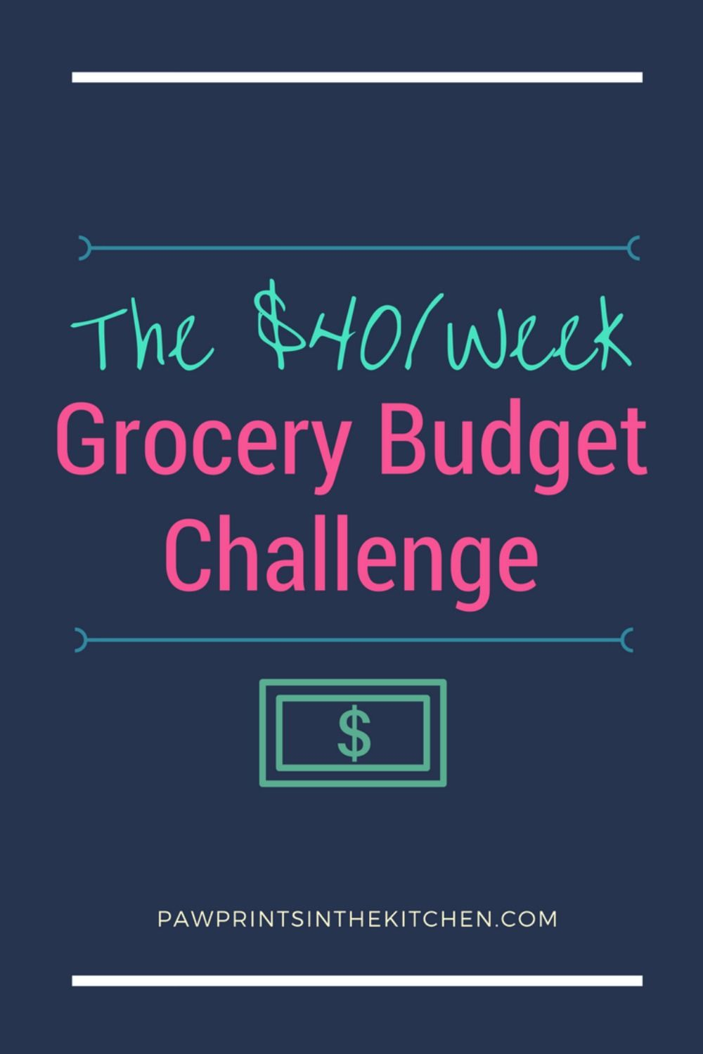 the 40 week grocery budget challenge frugal third and personal