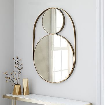 oil rubbed bronze frameless mirror metal framed celestial double round frame