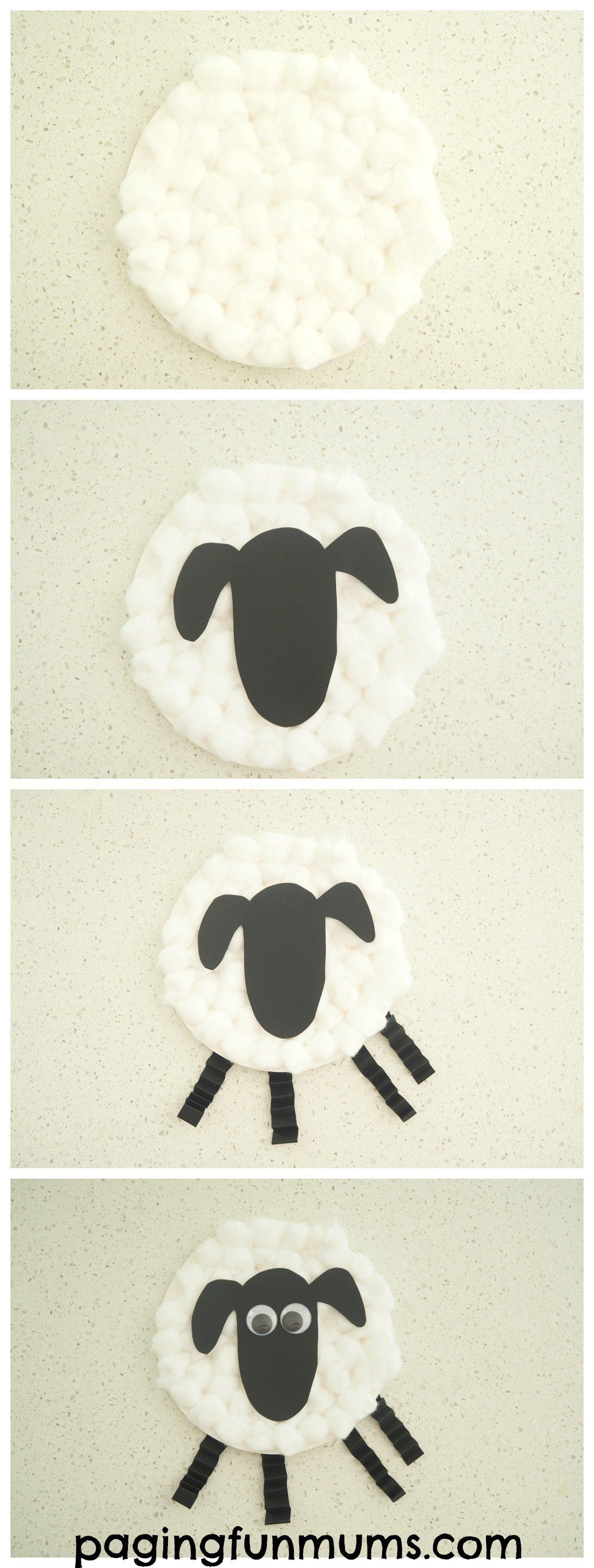 Paper Plate Sheep Craft. Simple to make and oh so adorable! & Paper Plate Sheep Craft | Pinterest | Sheep crafts Craft and Sunday ...