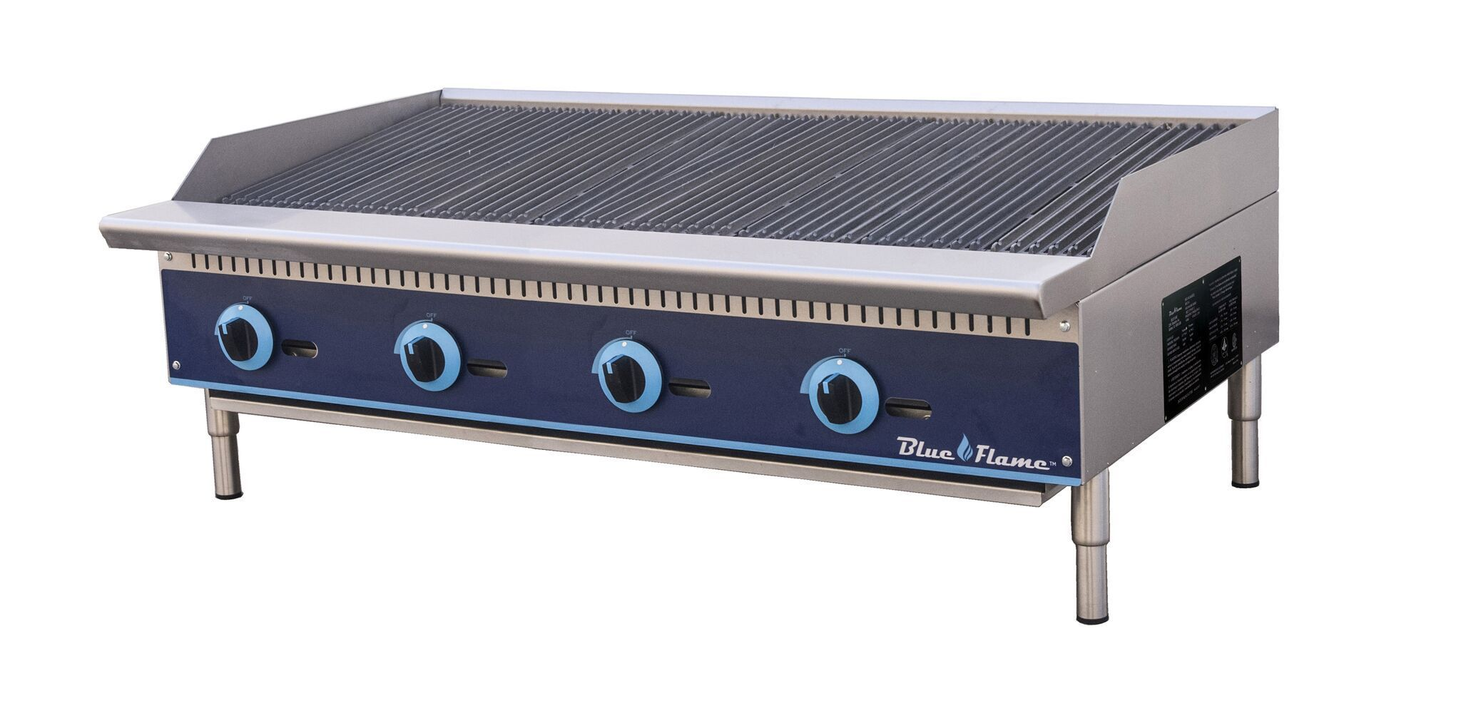 Blue Flame Commercial Kitchen Countertop Gas Char Broiler 48