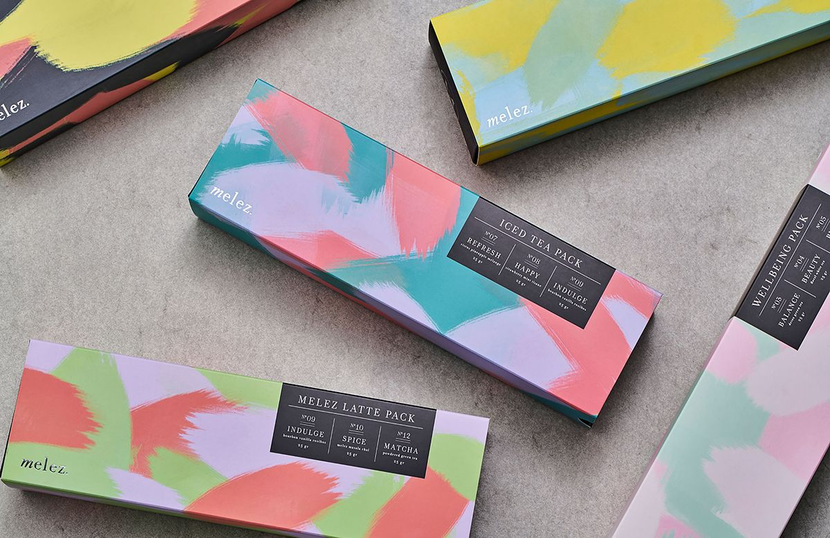 Melez Tea Gift Packs Are Sure to Catch Your Eye — The Dieline - Branding & Packaging Design