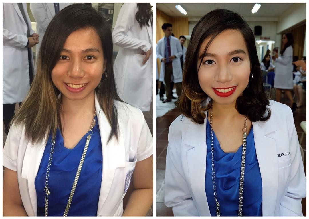 Stephie On Instagram Hair And Makeup Makeover Graduation Pictorial For A Future Doctor My Goal For Every Makeup Makeover Graduation Makeup Hair Makeup