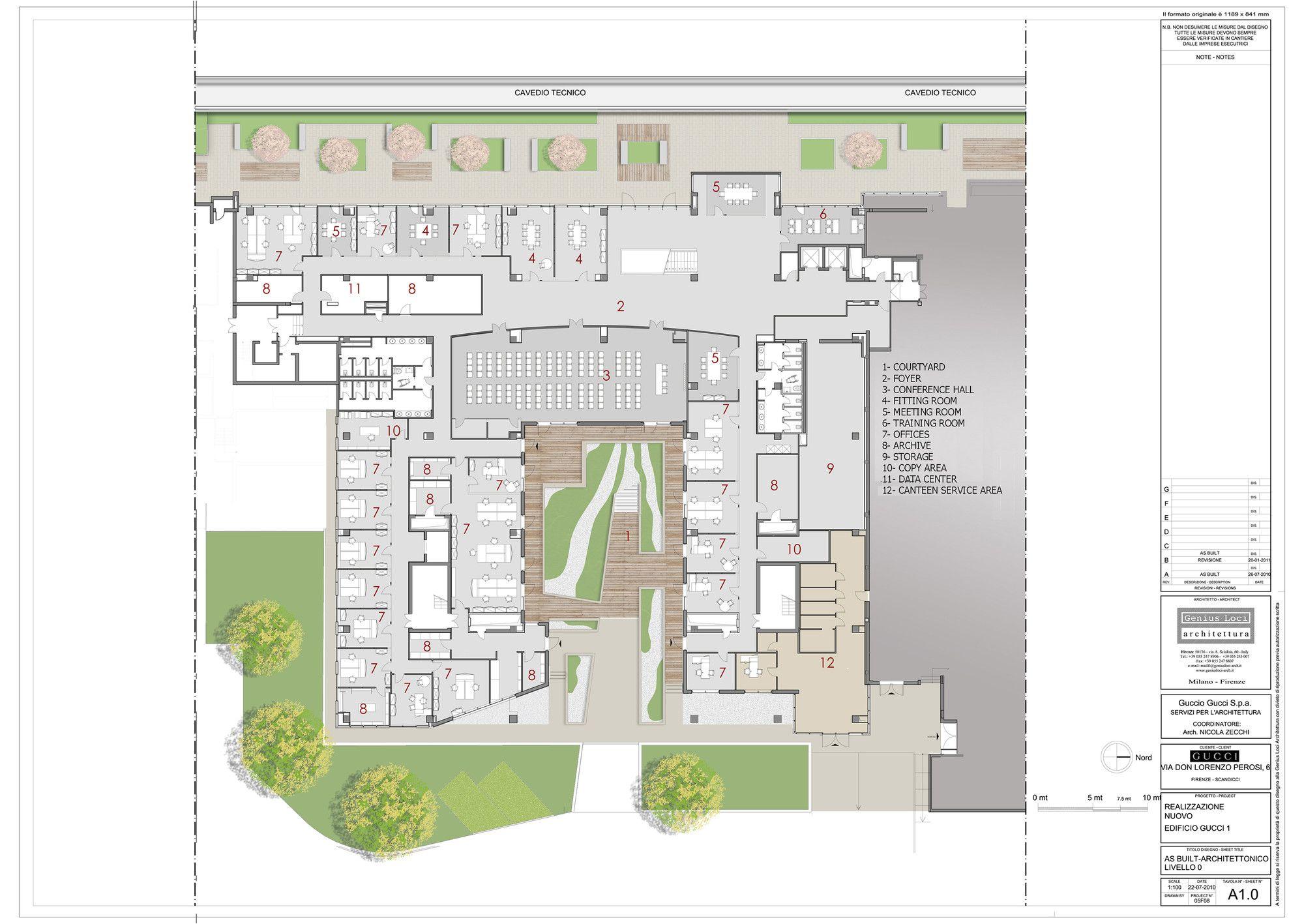 Gallery Of Gucci Headquarters Genius Loci Architettura 12 Genius Loci Ground Floor Plan Floor Plans