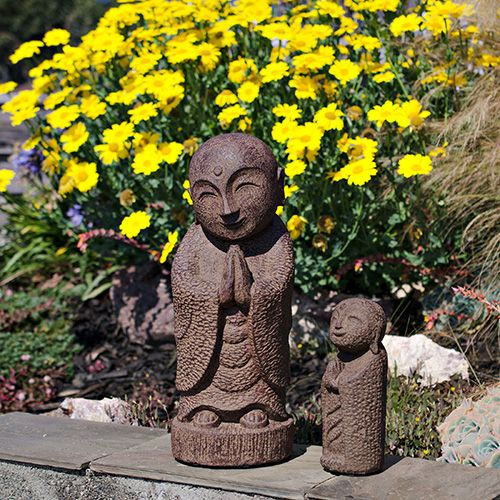 Large Smiling Jizo Garden Statue   Antique   Best Sellers For Spring
