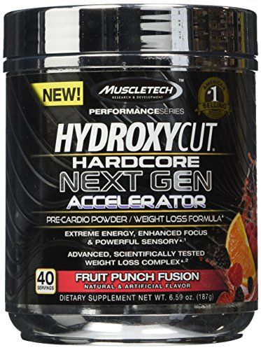 MuscleTech Hydroxycut Hardcore Next Gen PreCardioWeight Loss Formula Fruit Punch Fusion 40 Servings 659 oz 187g ** To view further for this item, visit the image link.Note:It is affiliate link to Amazon.