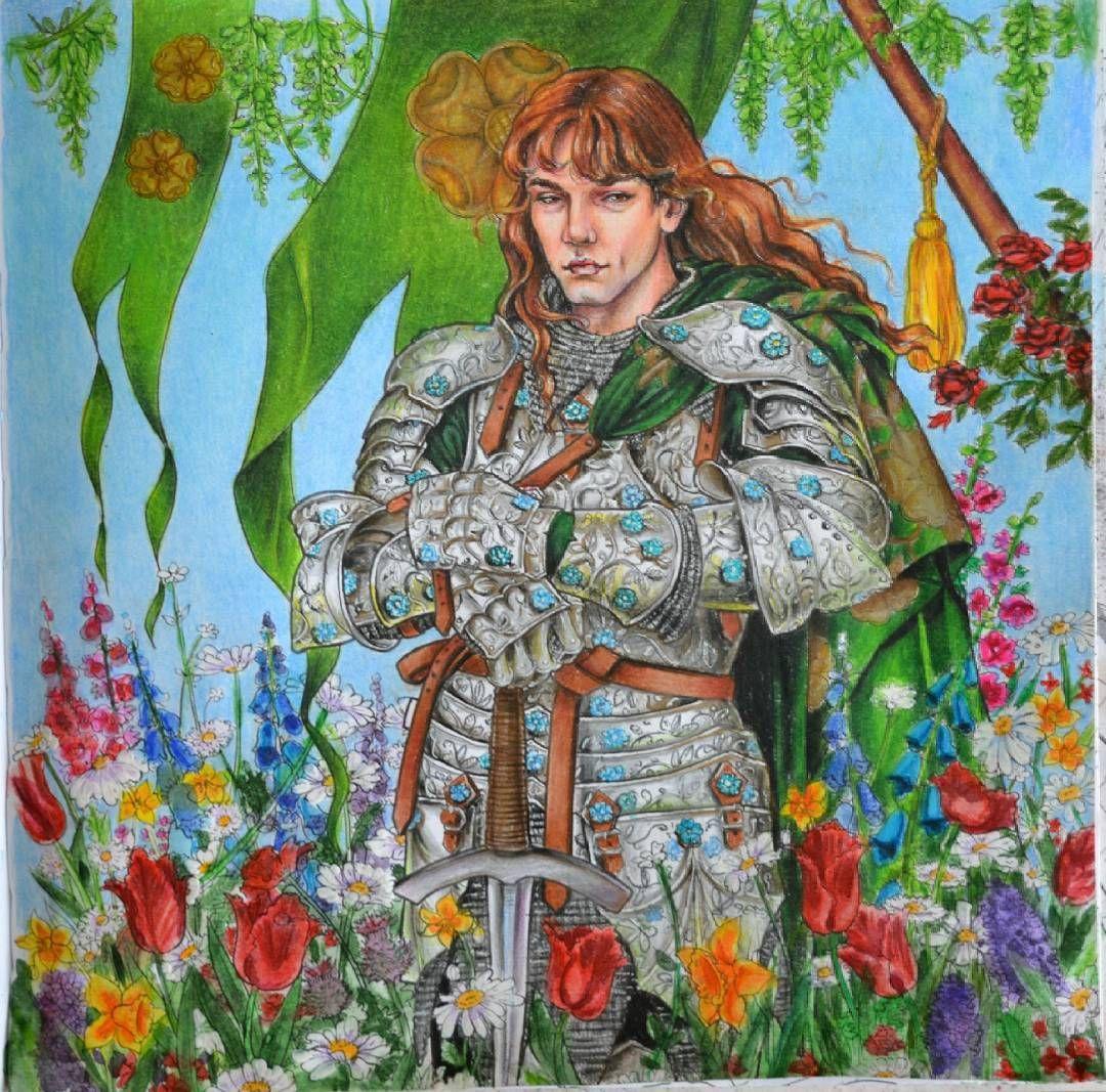 """Рыцарь цветов, раскраска """"игра престолов"""" # ..."""