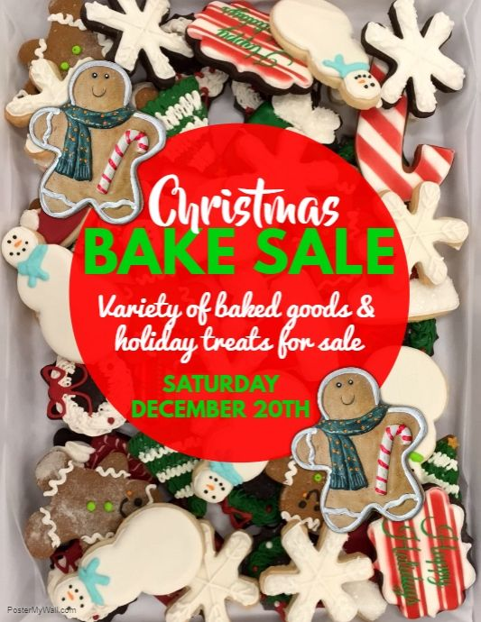 Christmas Bake Sale Flyer  Postermywall    Bake Sale