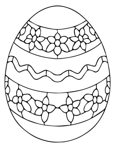 Ukrainian Easter Egg Coloring Page Free Printable Coloring Pages Coloring Eggs Easter Egg Designs Easter Egg Printable