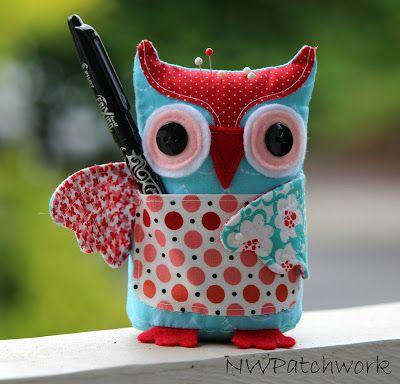 NW Patchwork: Owl Pincushion Tutorial | Owls | Pinterest ...