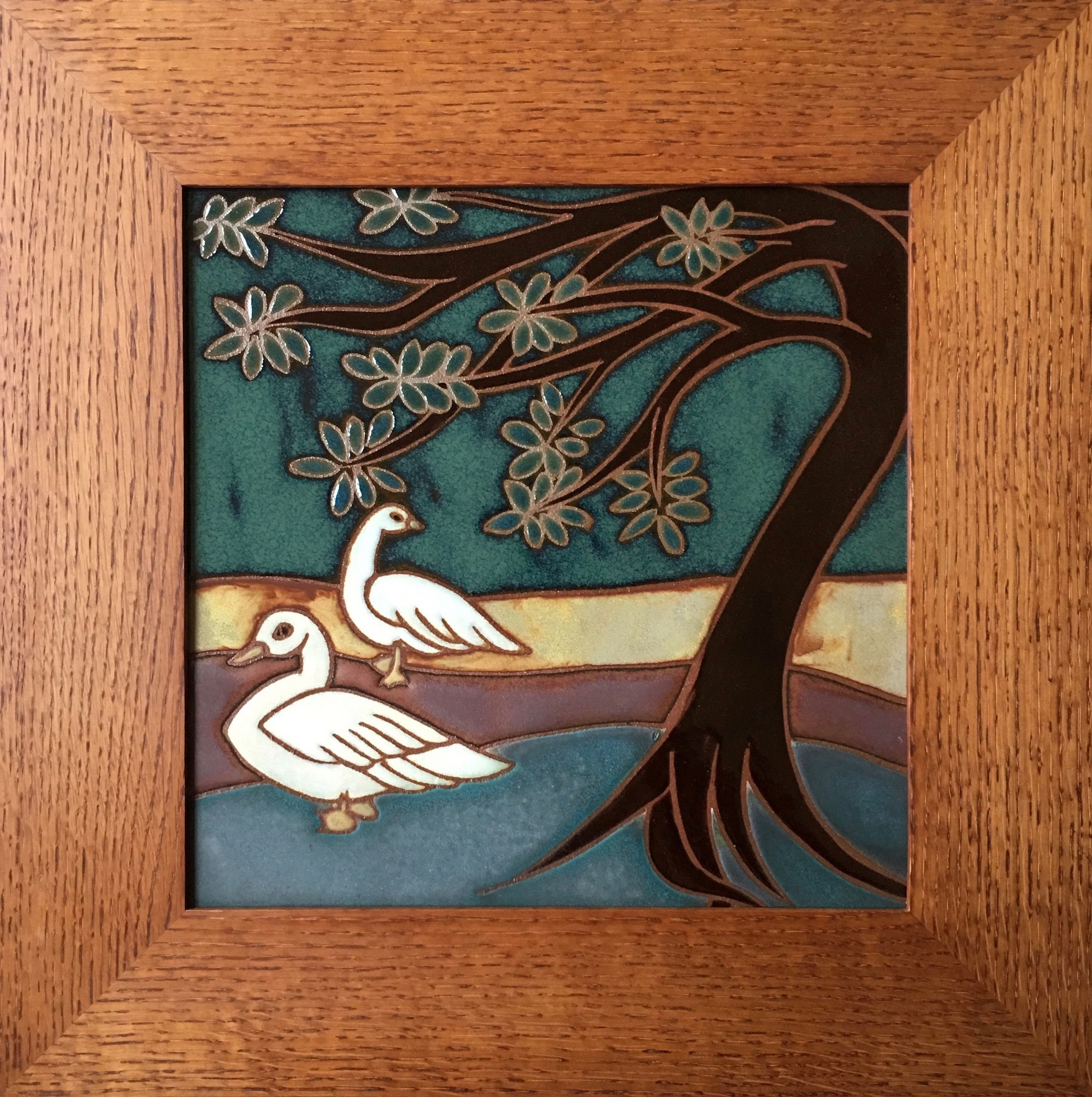 Handmade Ceramic Tile By Artist Marina Bosetti Of A Goose
