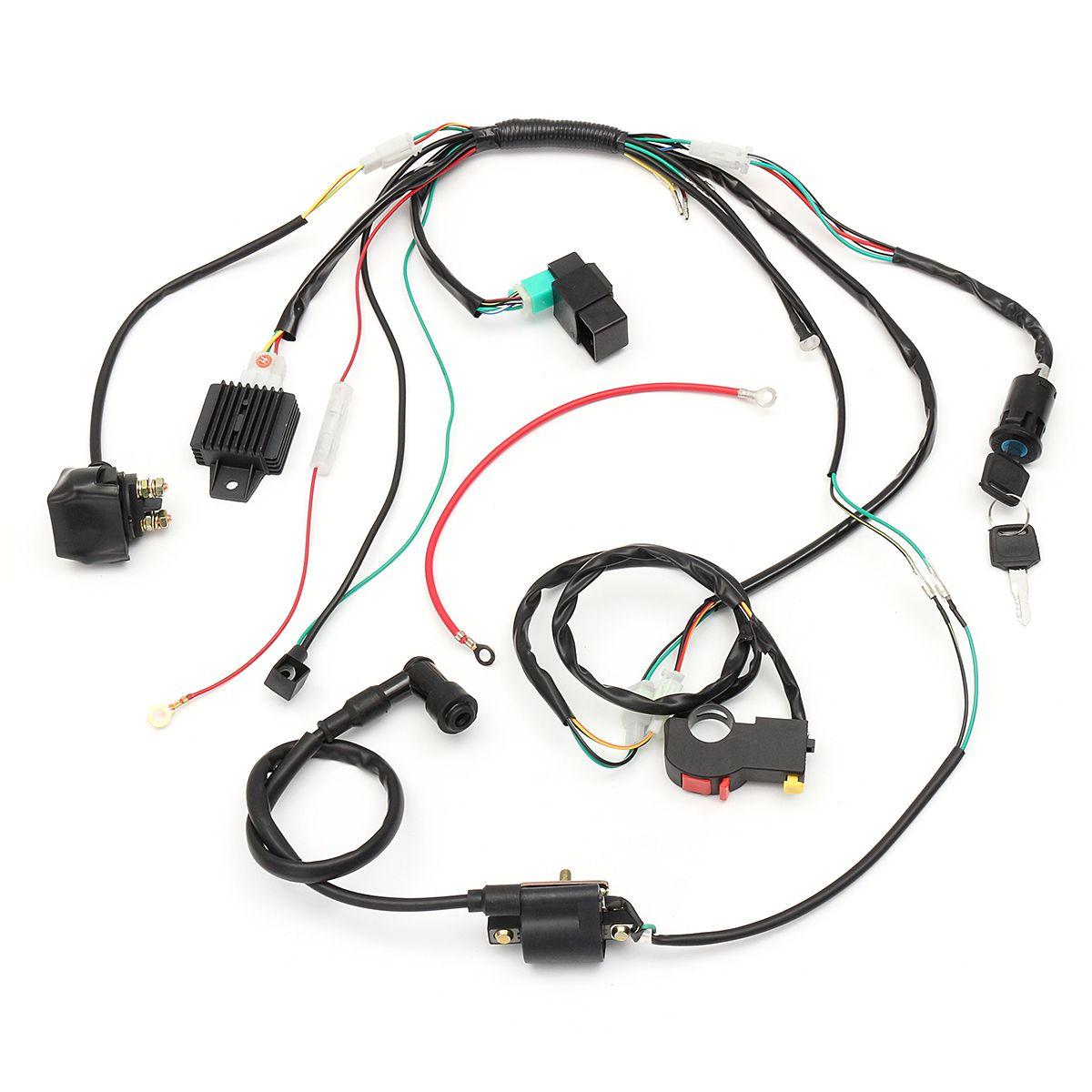 wiring harness loom solenoid coil rectifier cdi for 50cc 70cc 90ccwiring harness loom solenoid coil rectifier [ 1200 x 1200 Pixel ]