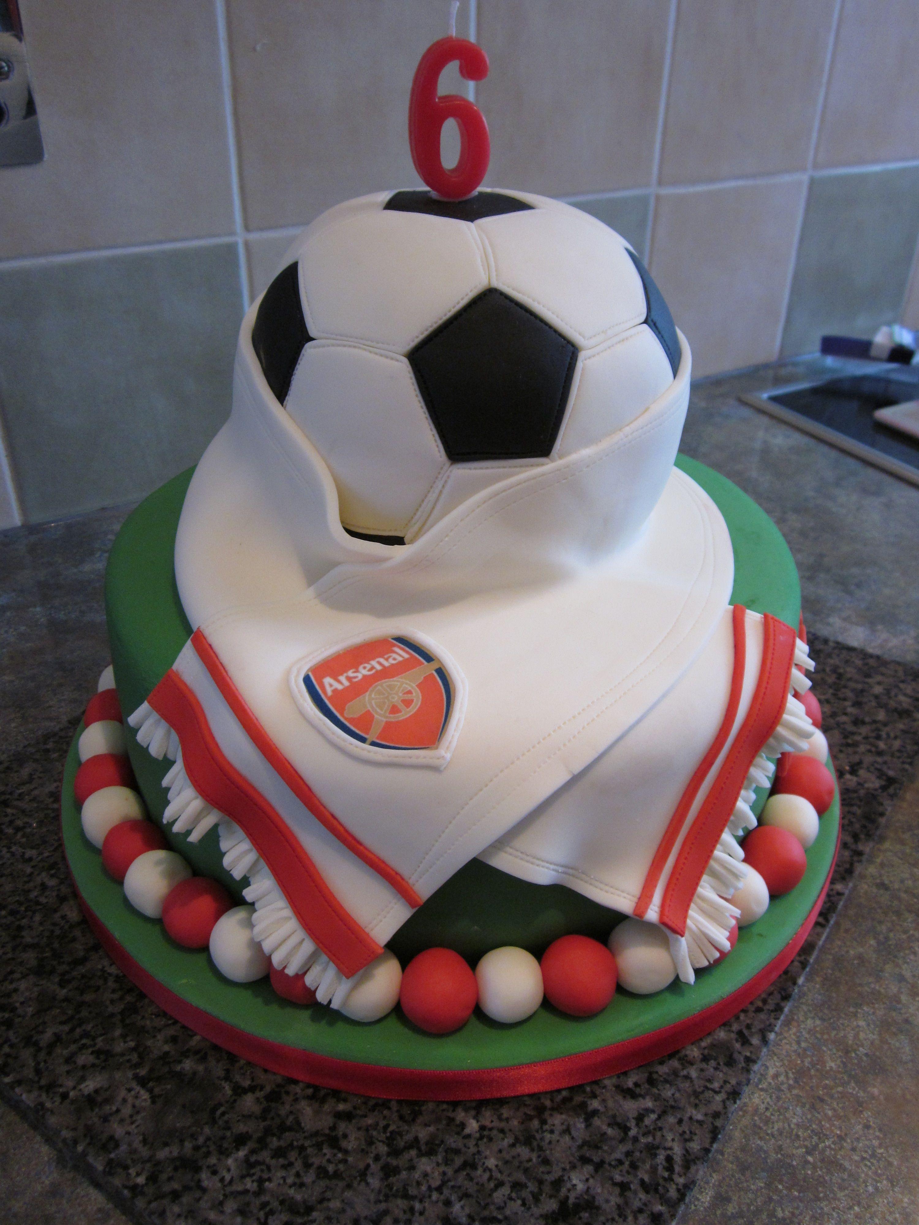 Arsenal Football Cake Awesomeness Soccer Cake Dad
