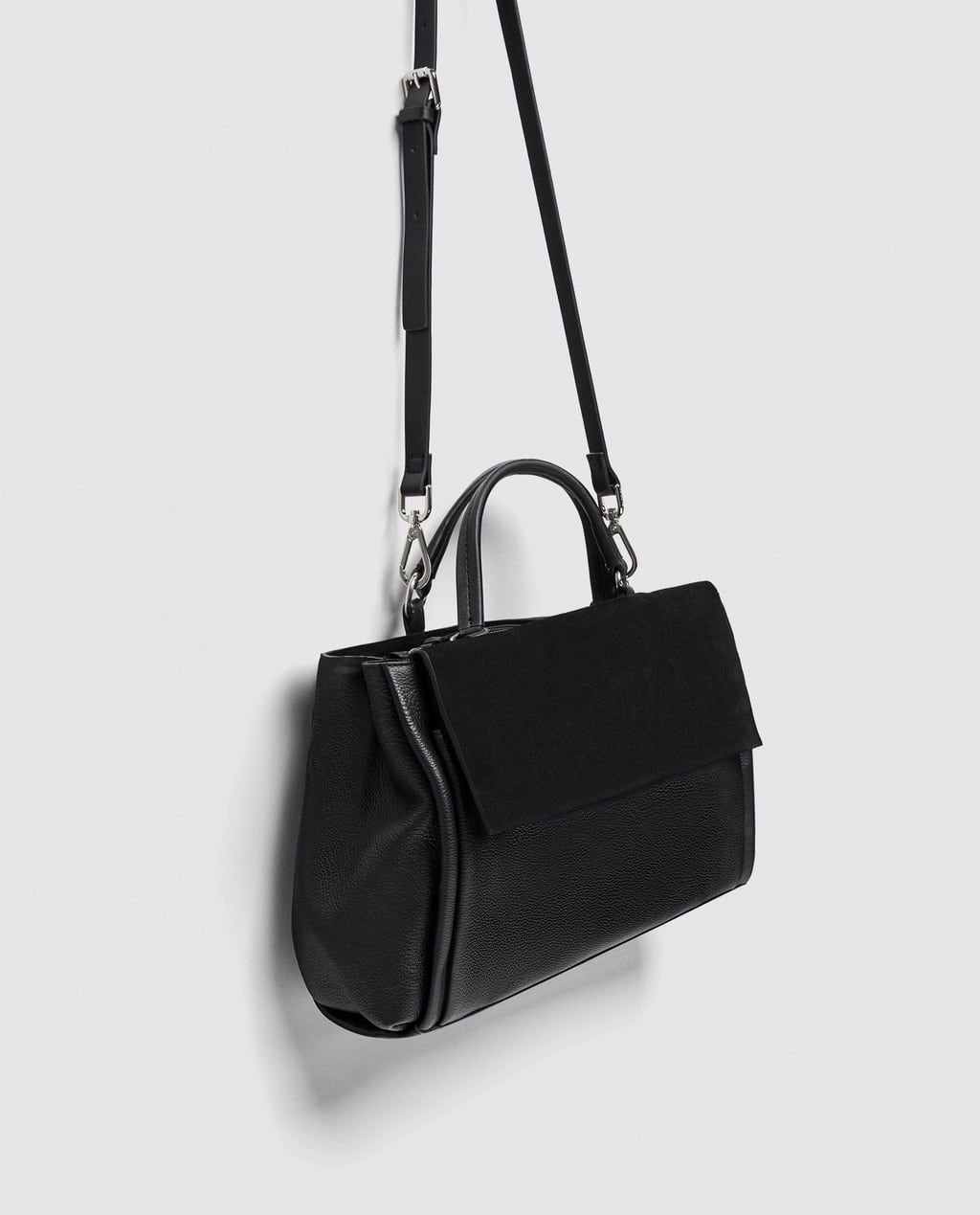 72b5353e6ca Image 8 of COMBINED LEATHER CITY BAG from Zara | Birthday list 2018 ...