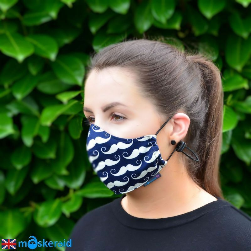 Maskeraid Navy Moustache Cotton Face Mask Mouth Nose Reusable Machine Washable 764575076739 Ebay In 2020 Mouth Mask Fashion Mask Diy Face Mask