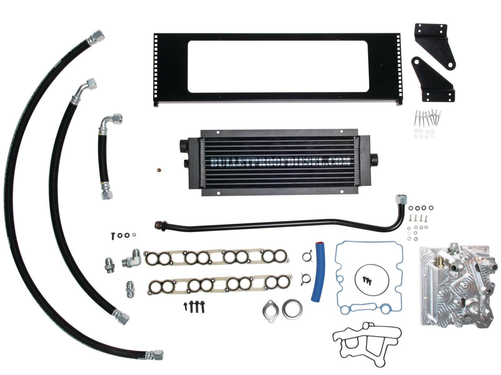 Bullet proof engine oil cooler for your ford diesel the factory oil filtration option keeps your oem filtration while still utilizing the renowned remote