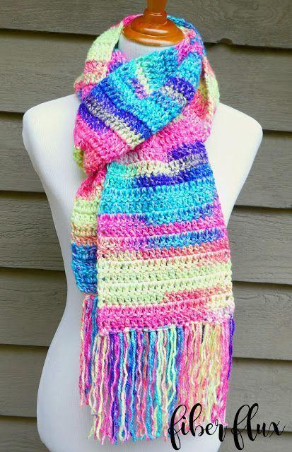 Free Crochet Patternabsolute Beginner Crochet Scarf Fiber Flux