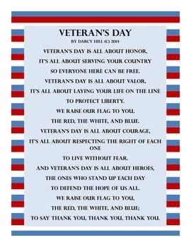 Veteran's Day Activity