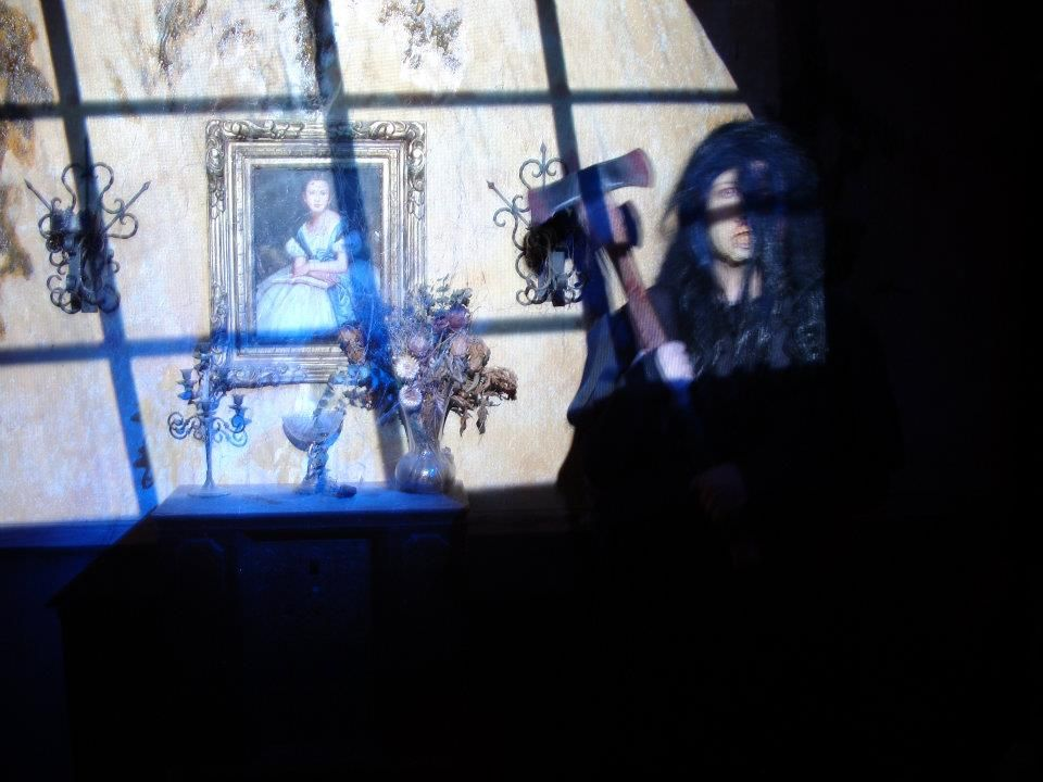 Molly Hatchet in the Raycliff Manor Living Room    www.RaycliffManor.com    - Raycliff Manor Haunted Attraction / Haunted House  San Diego, CA